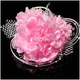 髪飾り(HA-006) 優しいベイビーピンク濃いピンクが混ざり合った髪飾り